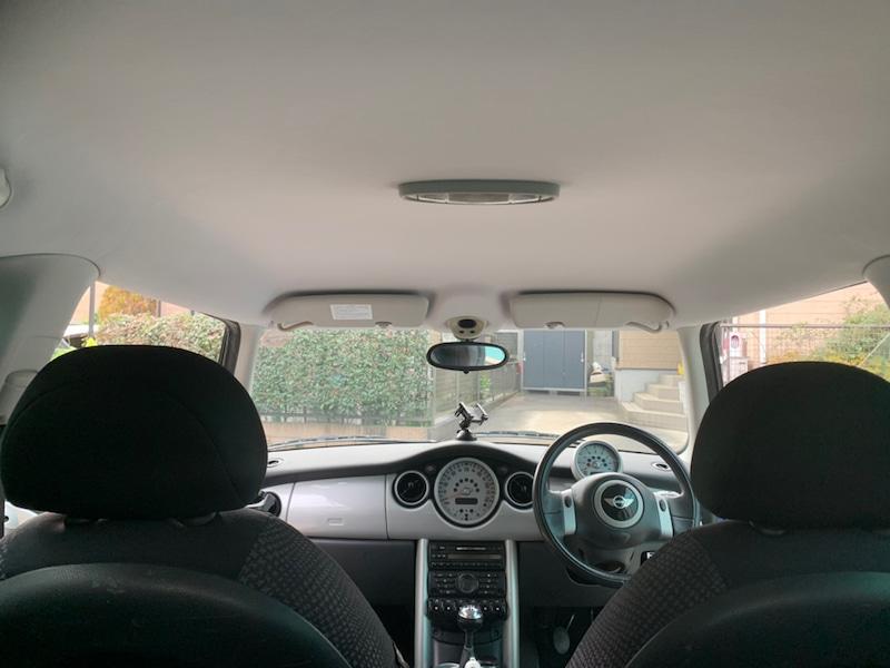 BMWミニ 天井の張り替え後